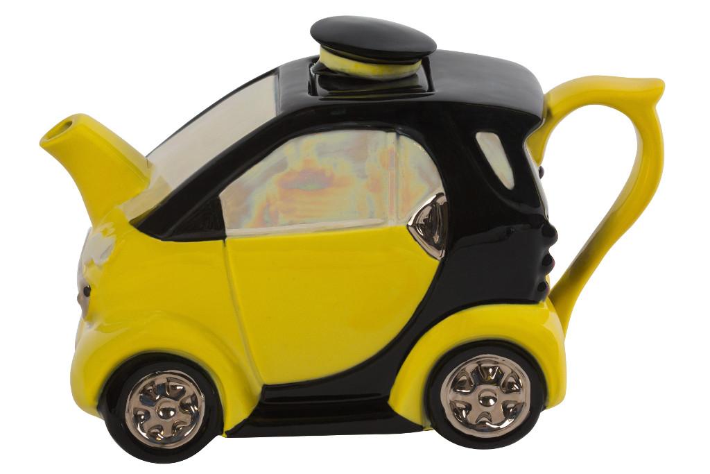 Smart Car Medium Teapot Yellow   Ceramic Inspirations